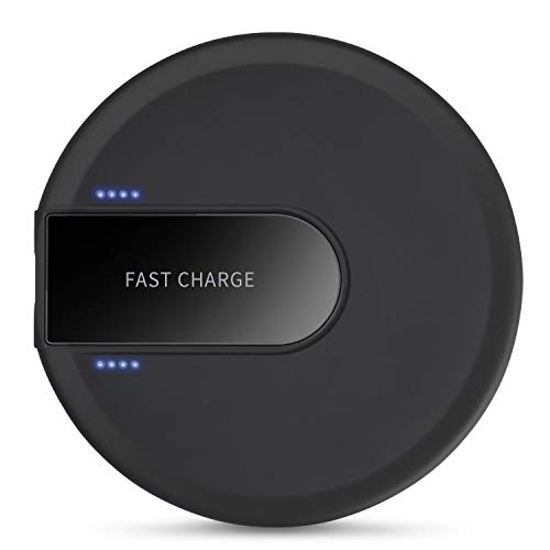 XLTOK Cargador Inalámbrico Rápido 10W, Fast Wireless Charger para iPhone XS/XS MAX/X / 8/8 Plus,Samsung Galaxy S9 Plus / S9 / S8 / Note 8(Negro)