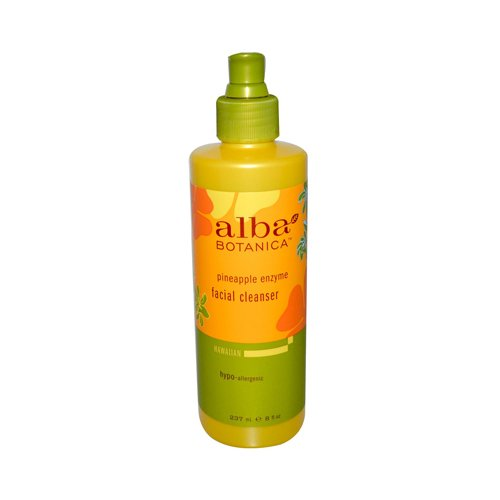 Alba Hawaiian Limpiador facial, purificador de poros, enzima de piña, 237 ml