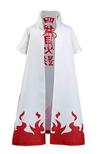 Hinevey Namikaze Cosplay Umhang Mantel Erwachsene Kinder Kostüm Weiß (Weiß (Erwachsene), L)
