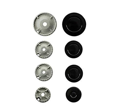 Find A Spare Oven Cooker Hob Gas Burner Crown & Flame Cap Kit For Rangemaster Cooker Neff Bosch