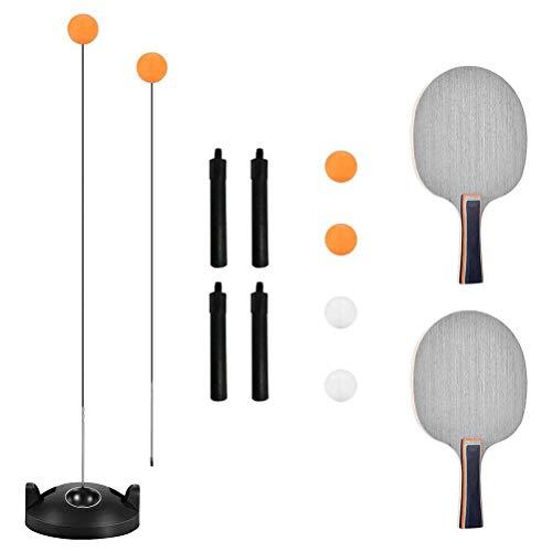 YEKKU Juego de tenis de mesa con eje suave elástico fácil de instalar, incluye base para principiantes y niños, uso en interiores o exteriores, juego de bate de tenis de mesa