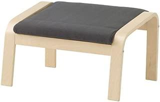 IKEA Ottoman, Birch Veneer, Finnsta Gray 16202.29214.2622