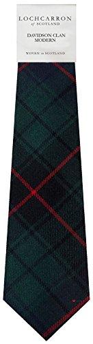 I Luv Ltd Gents Neck Tie Davidson Modern Tartan Lightweight Scottish Clan Tie