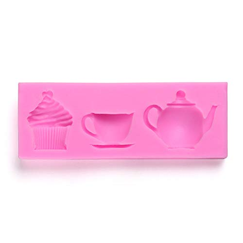 ieenay Silikonform für Kuchen, Kekse, Teekanne, Cup-Form, DIY Fondant, Küchenwerkzeug
