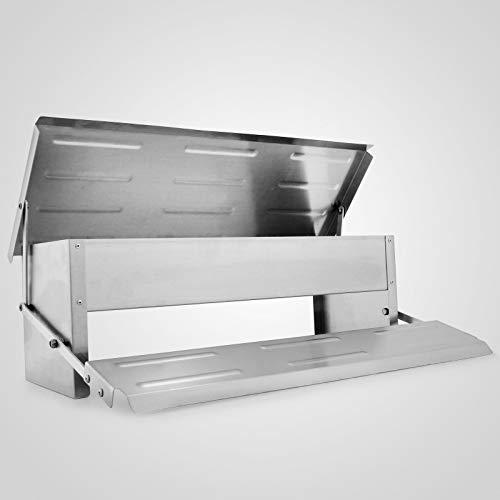 Husuper Capacidad 5kg Alimentador para Aves de Corral Eléctrico y automático Tamaño 56,5x36x18,5cm Alimentador de Aves de Corral para Pollo Comedero automático para Aves y gallinas