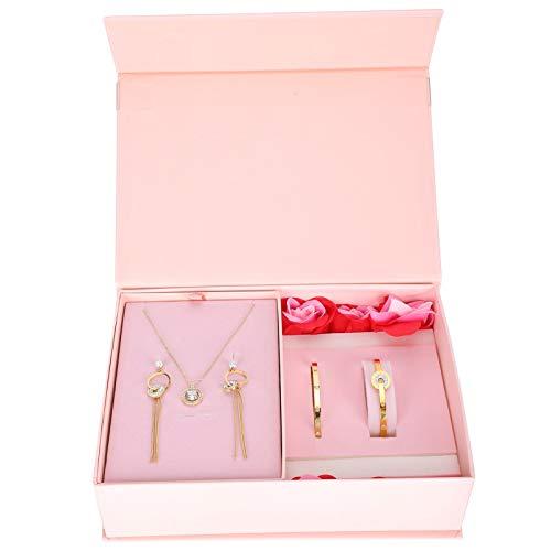 Collar Pendientes Pulsera, Conjunto de joyas poco alérgico, exquisito para bodas, fiestas, bailes, novias