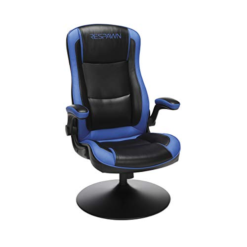 "RESPAWN RSP-800 OFM Rocking Gaming Chair, 29.13"" D x 25.98"" W x 41.73"" H, Blue blue chair gaming"