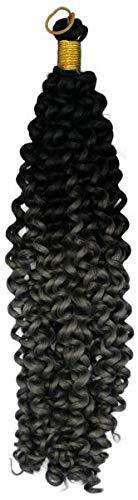 Deep Water Braids Tresses à crochet Bicolore Gris/noir