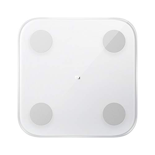Xiaomi mi Body Composition Scale mit 2 G-Förmigen Sensoren, Hochpräzisem BIA-Chip, 13 Körperdaten, Balance Capacity Test, Weiß