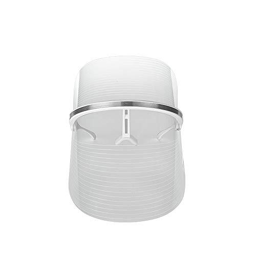 Czcrm Mascarilla facial con LED Máscara de fototerapia Máscara ligera de 3 colores Belleza facial Cuidado de la piel Máscara Dispositivo Dispositivo de belleza facial for el rejuvenecimiento de la pie