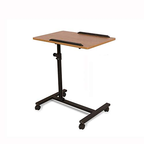 QIDI Laptop-Tisch Stand Schreibtisch Wagen Mausbrett Verstellbare Höhe 360 ° Schwenken 180 ° Neigung Hölzern Abschließbar 4 Rollen Tragbar Sofa Bett Büro (Farbe : T2)