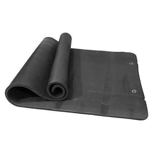 QWERTYU RIIANME Oefening mat yogamat, 190 cm x 100 cm, lengte en dikte 15 mm, antislip, voor Sport Yoga Fitness