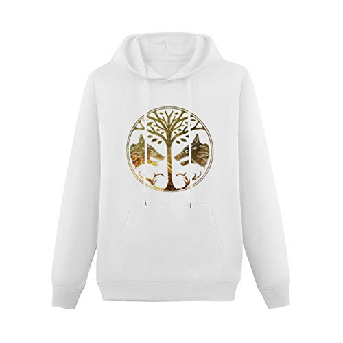 Destiny Iron Banner Printed Hoodie Long Sleeve Hooded Pullover Sweatshirts for Teenager White XL