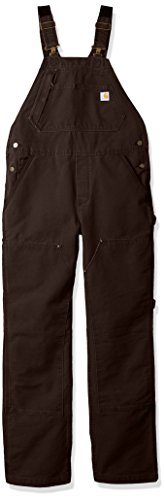 Carhartt Women\'s Weathered Duck Unlined Wildwood Bib Overalls