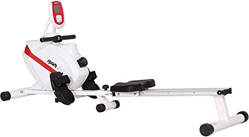 SportPlus Indoor Rower, Foldable Rowing Machine,...