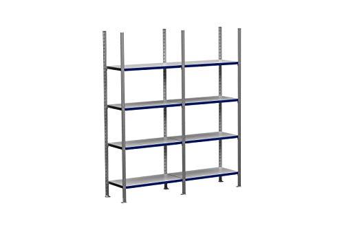 2m ordnerrek 200/250/300cm hoog, 30cm diep met 3-8 niveaus incl. stalen planken, belastbaarheid 100kg 2m × 250cm × 30cm (B×H×T), Ebenen: 4