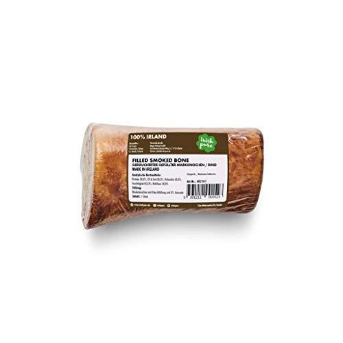 Irish Pure Filled Smoked Bone - Getrockneter Rinder Knochen mit Rind, Hunde Kauknochen, 100% Natürlicher Hundeknochen, Markknochen, Hundeleckerli, Hundesnack Getreidefrei, Kausnack - ca.11cm/260g