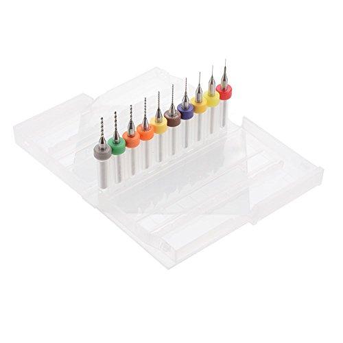 10 sizes Drill Bits Cleaning Kit Set for 3D Printer J-Head Nozzle Print Head 0.2/0.3/0.4/0.5/0.6/0.7/0.8/0.9/1.0/1.2mm