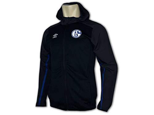UMBRO FC Schalke 04 Kinder Kapuzenjacke schwarz S04 Junior Fan Hoodie Jacke, Größe:158
