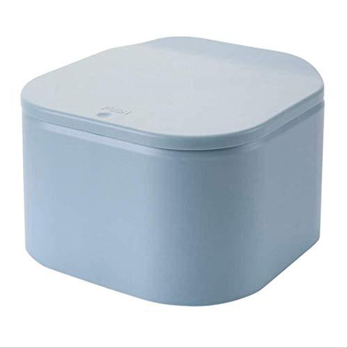 egfsha Papelera de escritorio mini creativo de plástico papelera de basura de la mesa de artículos de almacenamiento de barril para el hogar, oficina, organizador de artículos