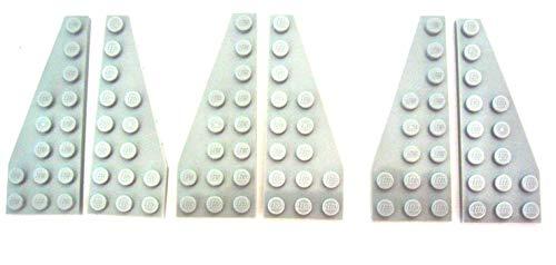 LEGO STAR WARS - 3 PAARE FLÜGEL FLÜGELPLATTEN MIT 8x3 NOPPEN IM NEUEN HELLGRAU - 50304 - 50305
