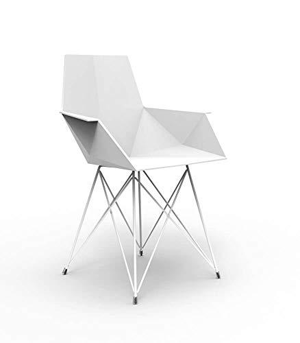 Vondom Faz petit fauteuil avec pieds en métal verni blanc