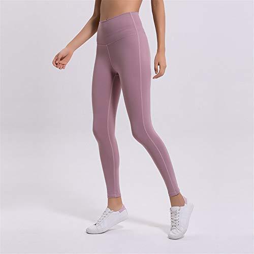 VisvimQ 2019 Neue schnell trocknende Yoga-Hosen mit hoher Taille und Nähten weibliche Hüfte getragen Laufen eng anliegende Yoga-Kleidung Fitness-Hosen (Farbe : Schwarz, Size : 6)