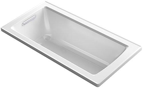 KOHLER K-1946-0 Drop-In Bath with Reversible Drain, 60' x 30', White
