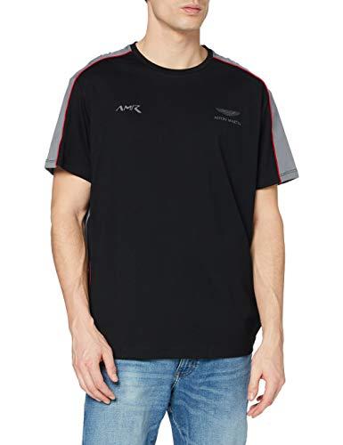 Hackett London AMR Multi tee Camiseta, Gris (9dublk/Gris), Small para Hombre