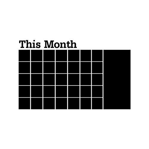 SUNER-EUR deze maand whiteboard Sticker kalender Blackboard Sticker gesneden muur Sticker