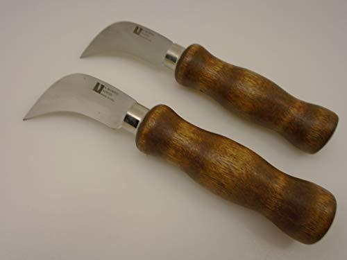 R Murphy USA Set of (2), 2 Knives Hooked 2 1/2 in Blade Linoleum Knife Standard Point Flooring Fabric