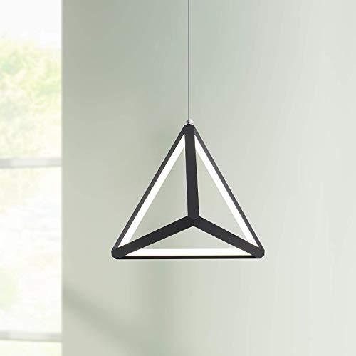 Leniure Modern Black Triangle LED Light Pendant Lamp Chandelier Lighting Fixture 8' Wide 8' Deep 8'...