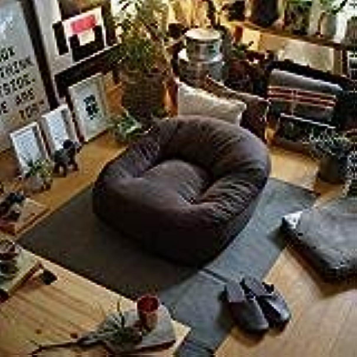 不愉快に入力安定モリーナ日本製特大クッションソファ73cmx73cm高さ38cm(座面29cm)のゆったり座椅子 (ブラウン)