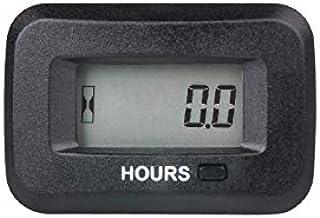 Jayron JR-HM038AD 5V a 277V,Kit de cronómetro digital LCD,horas iniciales configurables, uso para cortacésped ZTR Tractor Generador Depurador Carro de Vehículo ATV Motor de motor y gas