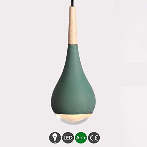 SGWH Lampade a sospensione moderne a LED Lampada a sospensione Lampada da pranzo Lampada di cemento Industriale Cemento di cemento Lampada da tavolo rotonda verde Lampada da tavolo da pranzo Illuminaz