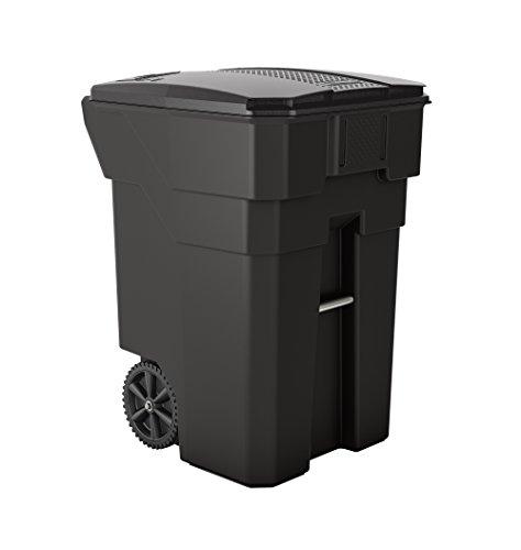 Suncast Commercial 32 Gallon Resin Wheeled Trash Can, Gray