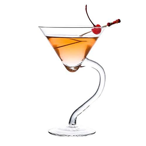 Verres Margarita Cup Martini Cup Verre À Cocktail Verre Personnalité Bar Coupe Set Champagne (Color : Clear, Size : O)