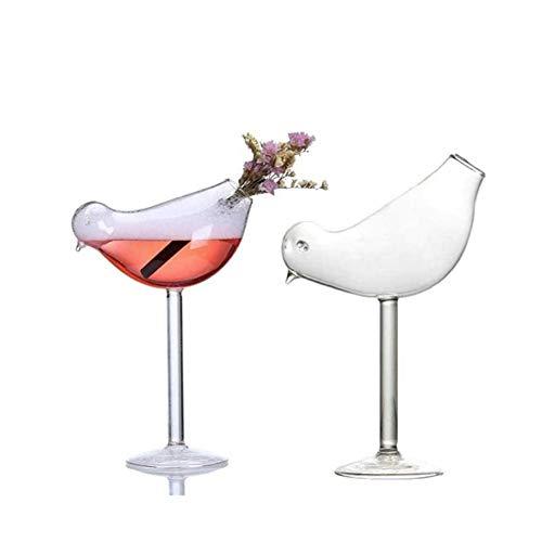 SDHENAILIAN Decantador De Whisky Pájaro champán Vidrio cóctel Copa Gafas Fiesta Barra Bebida Taza Vino Jugo de Vino Taza