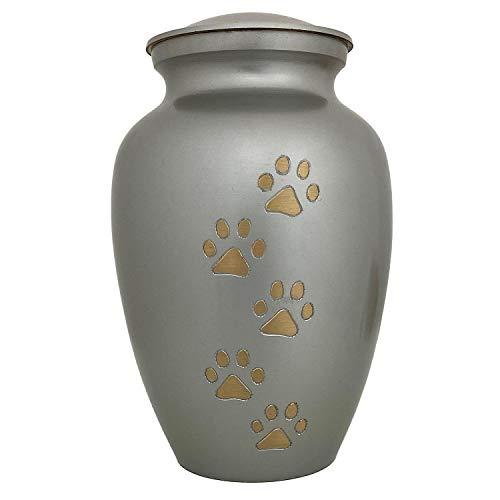 aubaho Urne Tier Haustier Tierurne Hund Katze Messing Zinn 22cm Antik-Stil