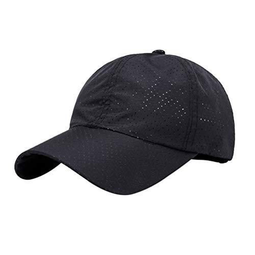 LIOOBO Boné de beisebol masculino e feminino com proteção UV para caminhadas ao ar livre e viagens esportivas