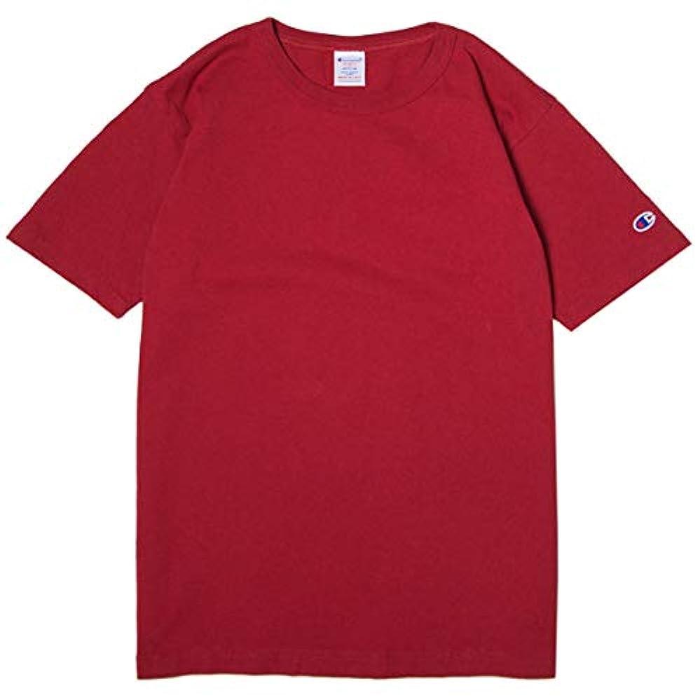 肌寒いコロニー文法チャンピオン Tシャツ メンズ CHAMPION T1011 US Tシャツ 19SS MADE IN USA ディープレッド