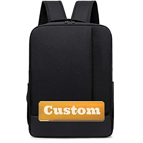 Nome personalizzato Nome personalizzato Zaino leggero per gli uomini 13 in manica per laptop sottile borsa per computer sottile (Color : Black, Size : One size)