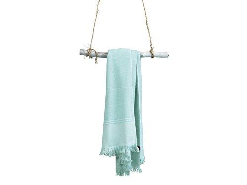 BLANC CERISE Serviette de Toilette - Coton Jacquard 350g/m² - Couleur Vert Pastel 050x100 cm