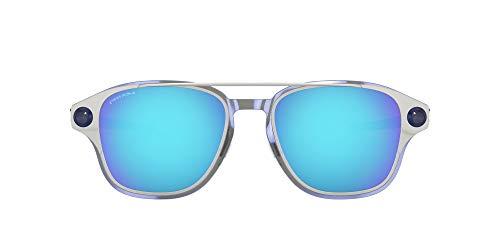 Oakley Men's OO6042 Coldfuse Titanium Square Sunglasses, Satin Chrome/Prizm Sapphire, 52 mm