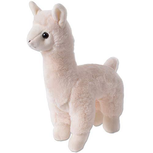 TE-Trend Plüschtier Alpaka Lama Kuscheltier Plüsch Alpaca Stofftier Kinder Spielzeug Geschenk 30cm Beige