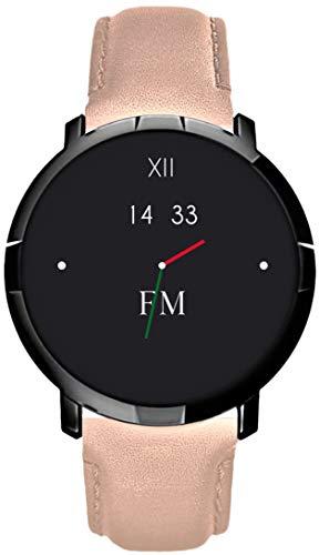 Smartwatch FLORENCE MARLEN FM1R | Disegnato In Italia | 2 CINTURINI | Donna Pelle Elba Rosa |Orologio,Water-Resistant|Cardiofrequenzimetro,Contapassi,Notifiche|IOS&Android