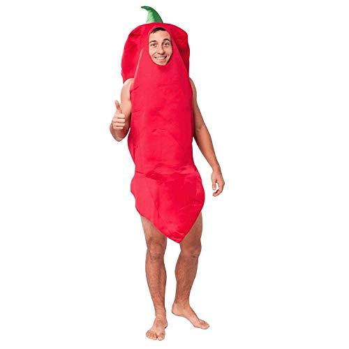 XXNSWD Disfraz de pimiento rojo caliente para hombre, disfraz de carnaval Halloween cosplay Rojo rosso Talla nica