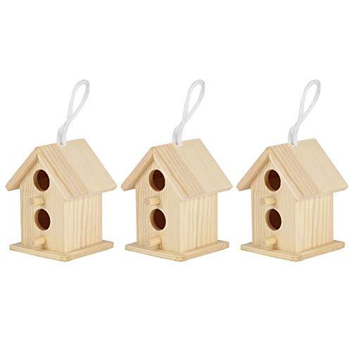 Jaula para anidar pájaros Casa de Madera para pájaros, casita para pájaros,...