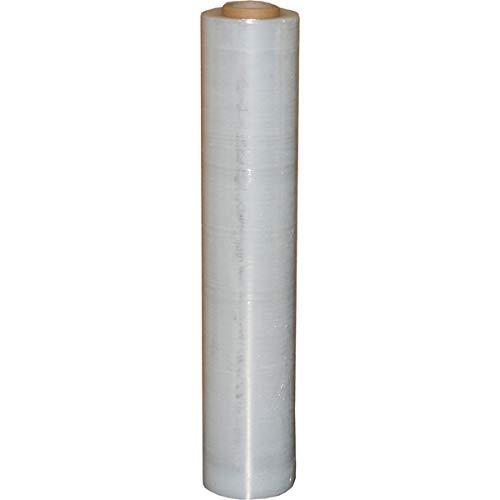 1 Rolle Stretchfolie 23my 500mm 1,5kg Palettenfolie Handfolie Wickelfolie transparent Schrumpffolie wrapping film stretch Plastikfolie Verpackungsfolie (Transparent, 1x)