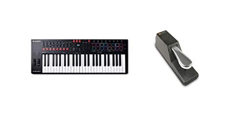 M-Audio Oxygen Pro 49 + SP-2 - Teclado controlador MIDI USB con 49...